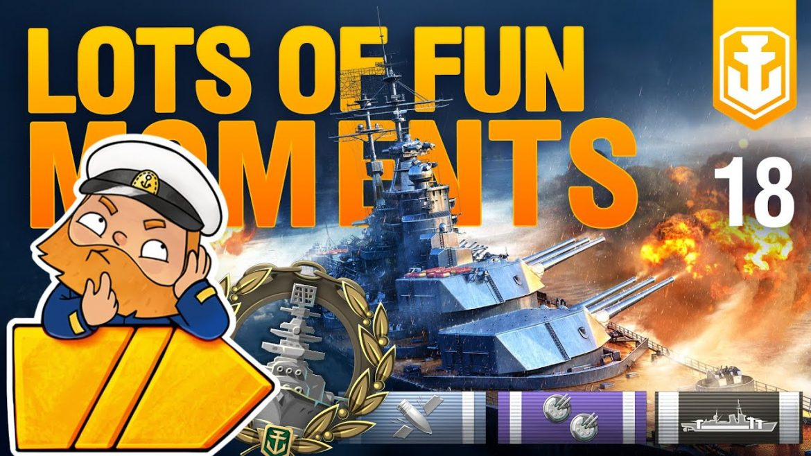 WoWs show #18: funny and lucky moments. Big guns only.