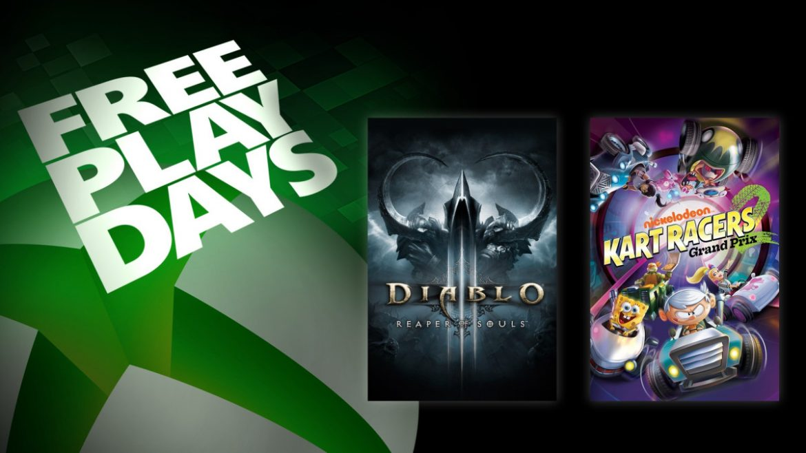 Free Play Days – Nickelodeon Kart Racers 2: Grand Prix and Diablo III: Reaper of Souls – Ultimate Evil Edition