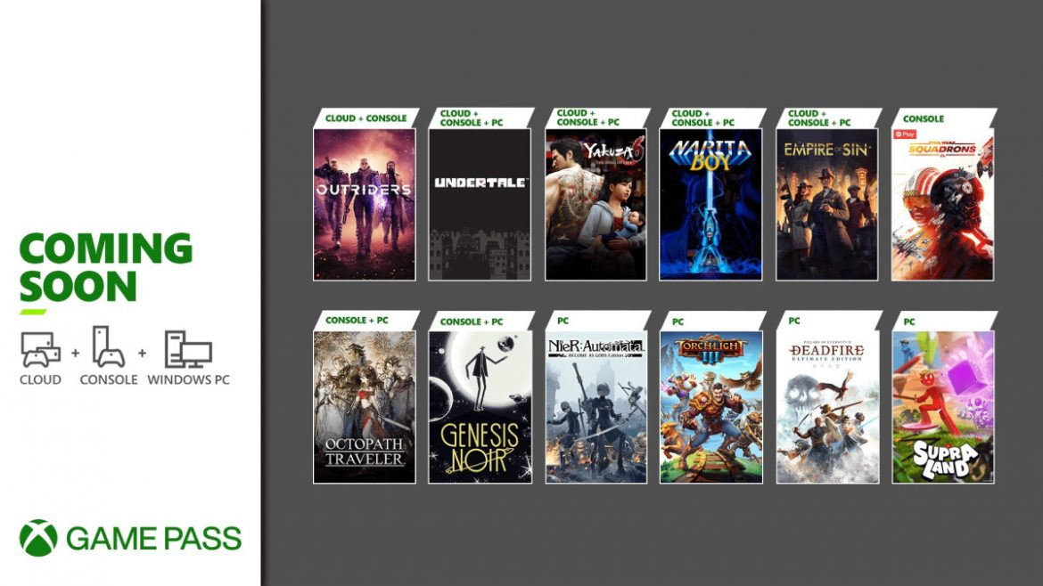 Coming Soon to Xbox Game Pass: Outriders, Octopath Traveler, Yakuza 6: The Song of Life, and More