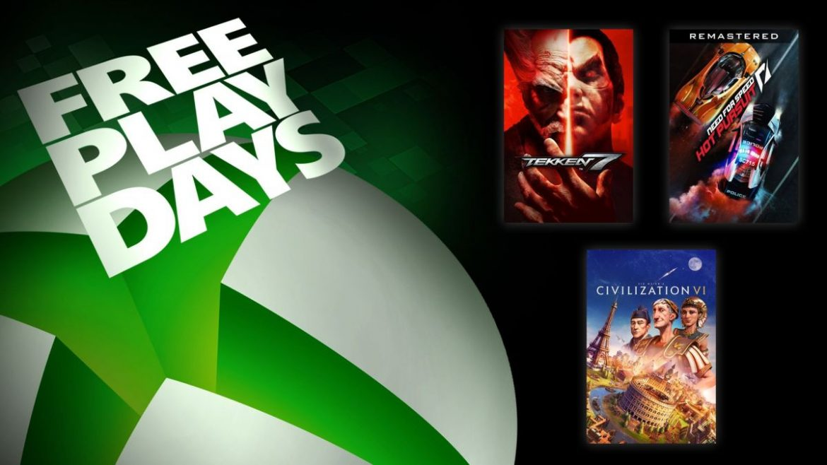Free Play Days: Tekken 7, Need for Speed Hot Pursuit Remastered, and Sid Meier's Civilization VI