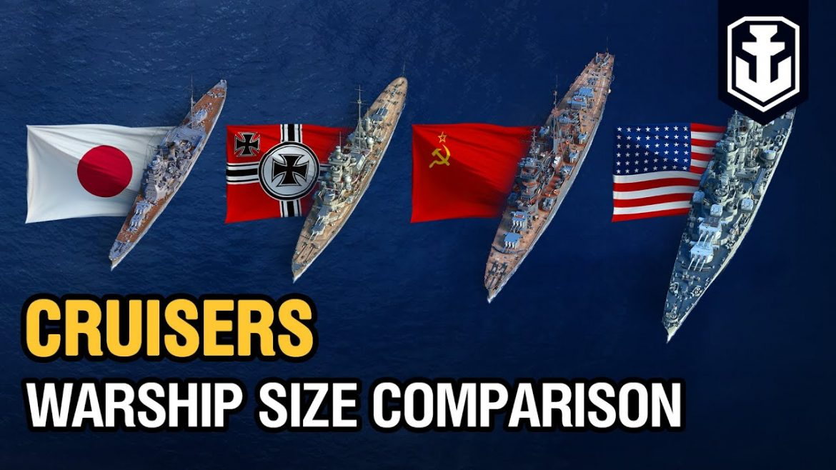 Warships Size Comparison: Cruisers