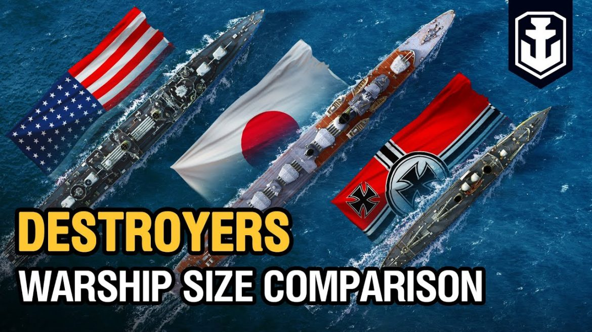 Warships Size Comparison: Destroyers | World of Warships