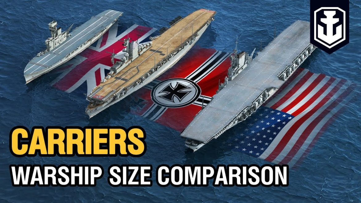 Warship Size Comparison: Aircraft Carriers in World of Warships