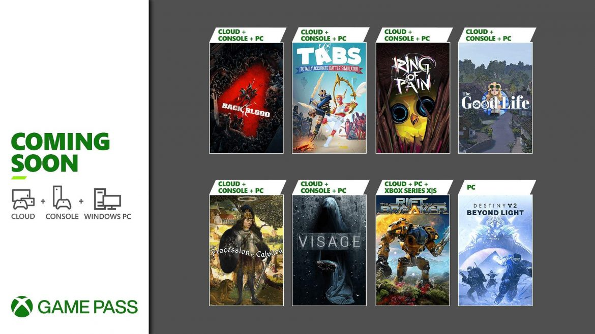 Coming Soon to Xbox Game Pass: Back 4 Blood, Destiny 2: Beyond Light for PC, and More